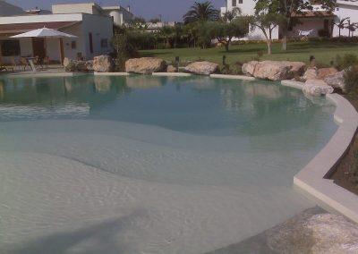 Ingresso a spiaggia per piscine scenografiche