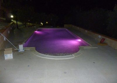 led colorati per piscina