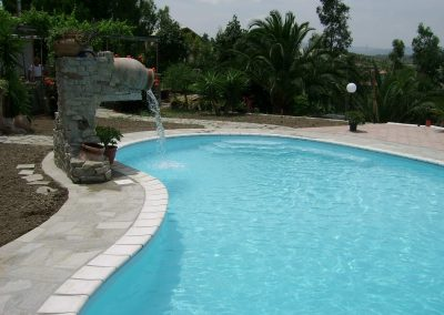 piscina privata scenografica