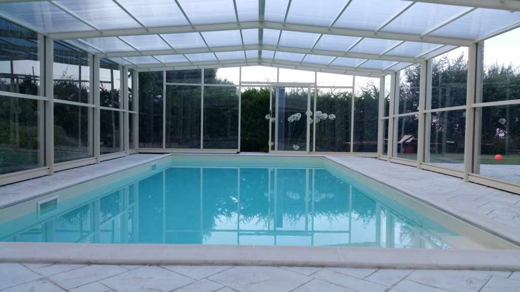 copertura per piscina in inverno