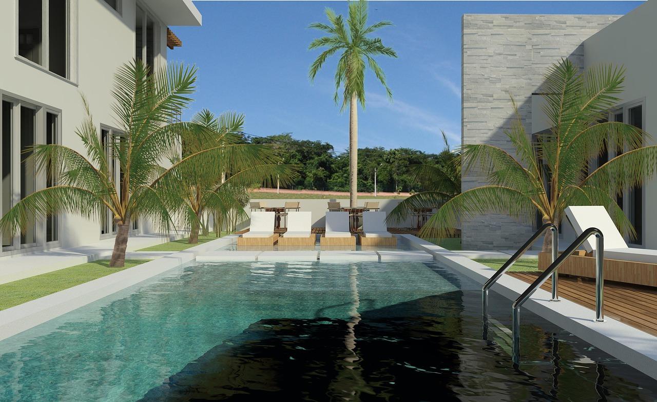 piscina acqua verde