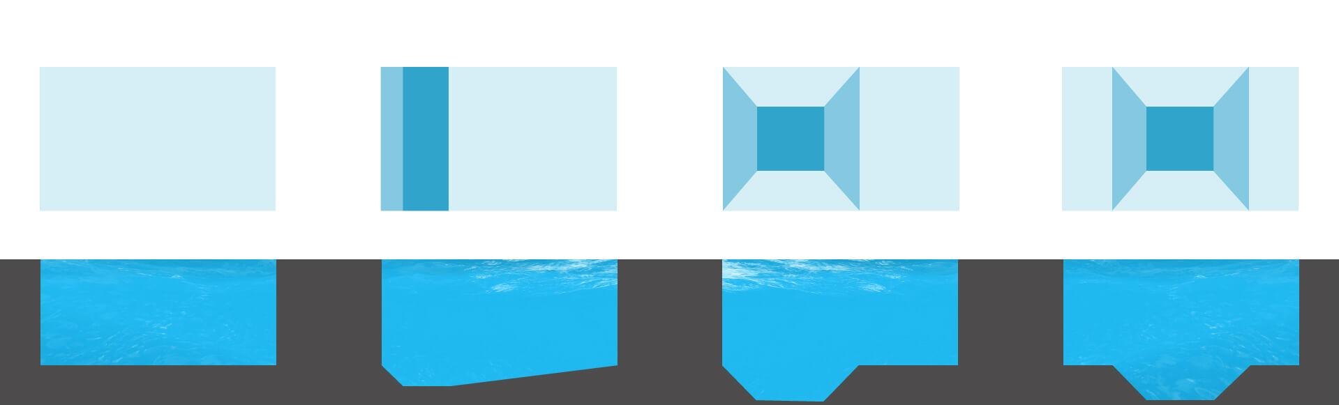 dimensioni tipologia fondo piscine